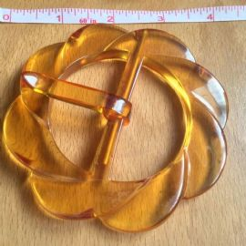 Applejuice Bakelite Round Buckle Art Deco 1930s to 1940s